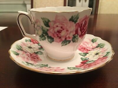crown staffordshire tea cup teacup and saucer Vintage collectible
