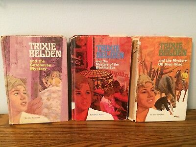 TRIXIE BELDEN Vintage Mystery Series Books - 3 Hardcover - 1970's