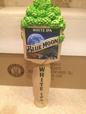 """Blue Moon White IPA Beer 10"""" Tall Tap Handle ~ NEW In Box"""