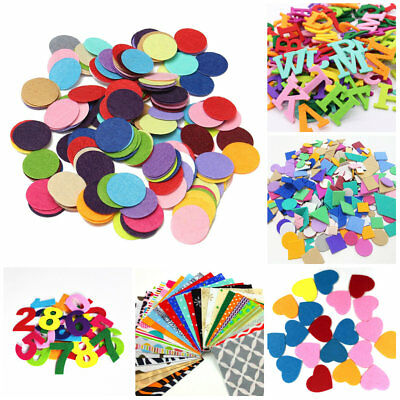 Alphabet Number Round Felt Pad Apparel Sewing Fabric Patches Flower Brooch Decor