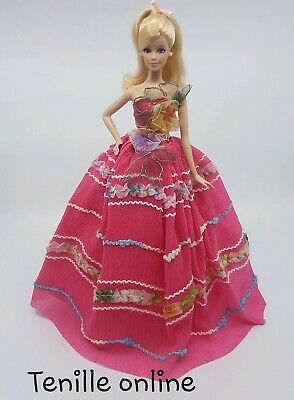 New Barbie clothes outfit princess wedding gown colorful hot pink dress