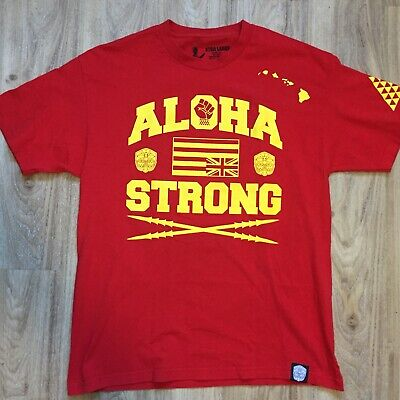 bf661592b57 FARMERS MARKET HAWAII ALOHA STRONG T SHIRT Hawaiian Red Mens