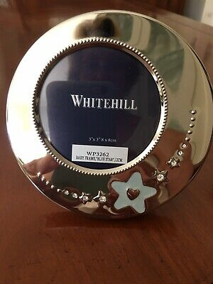 New Whitehill Baby Boy Silver Photo Frame