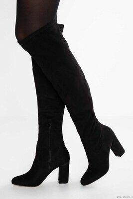 89efb42158a MADDEN GIRL WOMEN S Felize Over-The-Knee Boots SZ 7.5 M BLACK