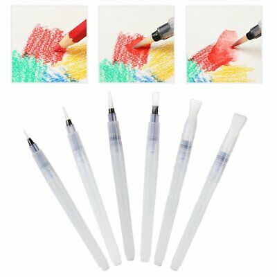 6x Artist Ink Water Brush Pen Set For Watercolor Calligraphy Painting Drawing WT