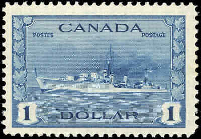 Classic Mint Canada Stamp: Scott #262 $1.00 Destroyer War Issue Never Hinged