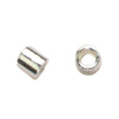 Genuine .925 Silver Of 50 2 X 3 MM STERLING SILVER CRIMP BEADS  Pkg 1113AS