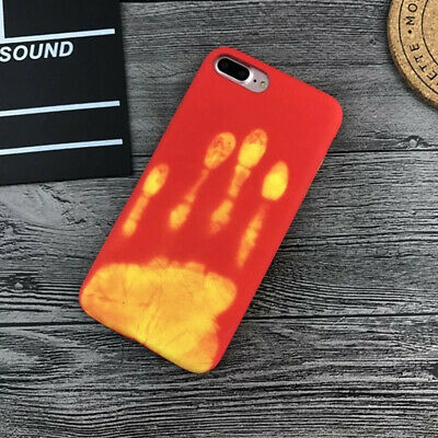 Thermal Sensor Heat Induction Phone Case Cover for iphone 6s 7 8Plus X Men Women