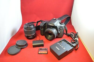 Canon EOS 7D SLR Camera with 18-55mm and 50mm Lens