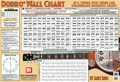 Dobro Fretboard Wall Chart Resonator Guitar Poster A Tuning Notes Rolls