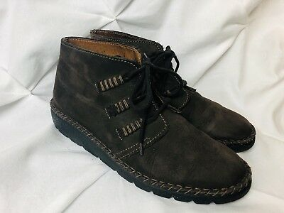 6cb9b9dade7e9 JOSEF SEIBEL BROWN Leather Lace Up Ankle Boots Air Massage Women EU 39 Us  8-8.5