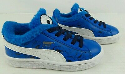 3c5ad4c65e94 NEW Puma X Basket Sesame Street Cookie Monster Kids Toddler Shoes Size 10.5C