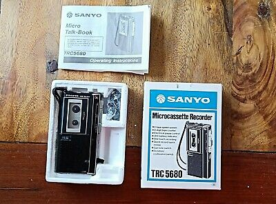 Sanyo Microcassessette Recorder TRC 5680 voice recorder dictaphone vintage