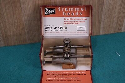 Vintage Eslipse  Boxed #33 Trammels New Old Stock  Old Tools