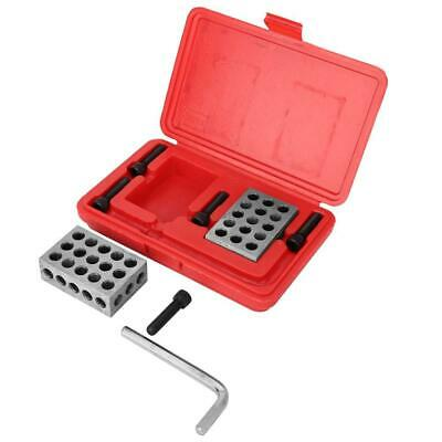 1-2-3 Block Durable Machinist Gauge Hole Blocks 23 Holes with Screws Wrench Case