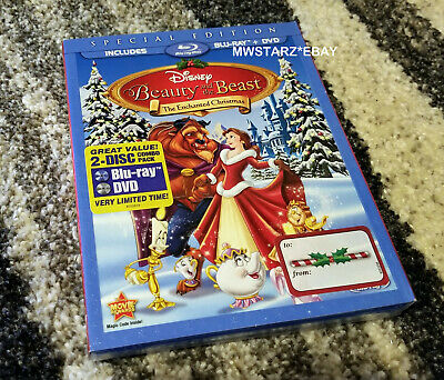 Beauty And The Beast An Enchanted Christmas (Blu-ray DVD 2011 2-Disc Set) New