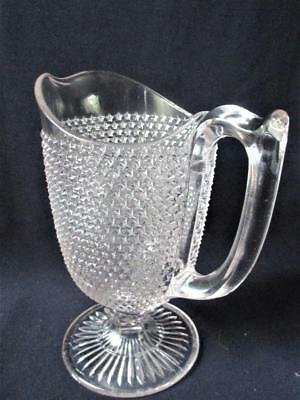 Antique EAPG Glass STAR ROSETTED SNOWFLAKE Cream Pitcher  McKee Bros.