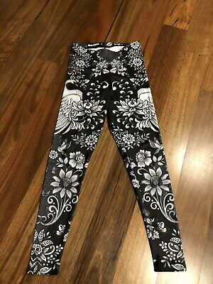 Blackmilk Tattoo Lace High Waisted Matte Finish Leggings - Size Large