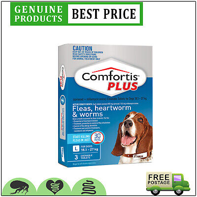 COMFORTIS PLUS for Dogs 3 Doses 18.1 to 27 Kg BLUE Pack EXPIRY JUNE-19