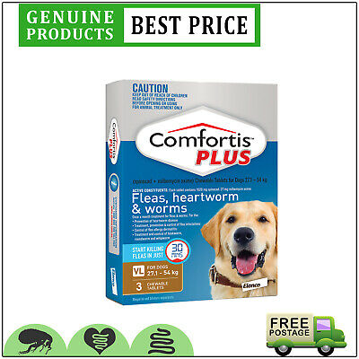 COMFORTIS PLUS for Dogs 3 Doses 27.1 to 54 Kg BROWN Pack EXPIRY SEP-19