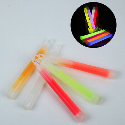 4x 6inch Glow Sticks with Hook Camping Emergency Outdoor Light Party Favors Soft
