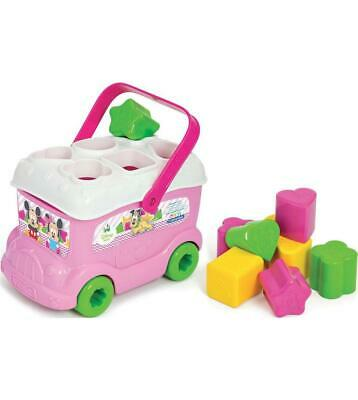 Disney Baby Minnie & Mickey Mouse Shape Sorter Bus Pink & White