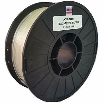 3D Printing Filament Argos 1.75mm PLA (Clear)(Natural) MADE IN THE USA Printer -