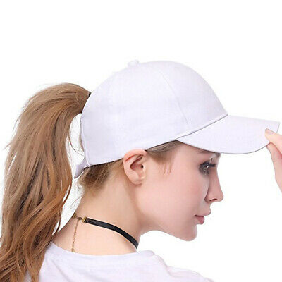 Glitter Ponytail Baseball Cap Women Mesh Bun Adjustable Snap back Hip Hop Hat