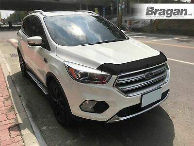 To Fit 2016+ Ford Kuga Smoked / Tinted Hardened Acrylic Hood Bonnet Guard Shield