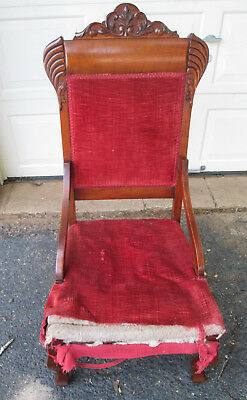Antique Victorian East Lake Side Chair to restore