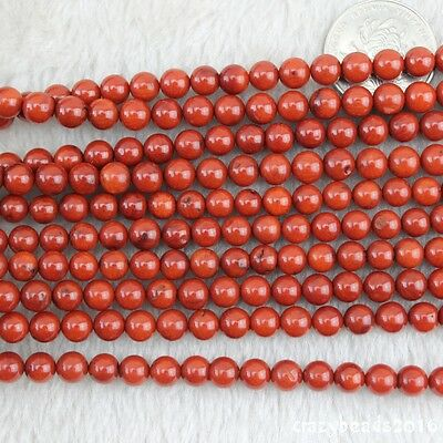 """5 Strands 7mm Round Gemstone Red Coral Loose Beads For Jewelry Making Strand 15"""""""