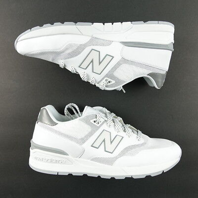 new arrivals 0d597 11cc9 NEW BALANCE 597 Size 9 D Men's Sneakers Classic Casual Shoes White Gray  MD597DWB