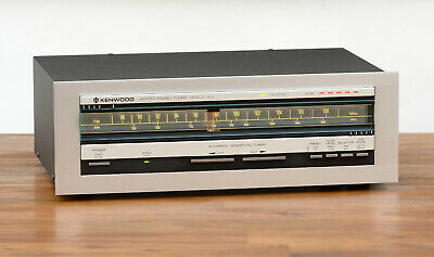 Kenwood KT-413 FM/AM Stereo Tuner / Radio in silber
