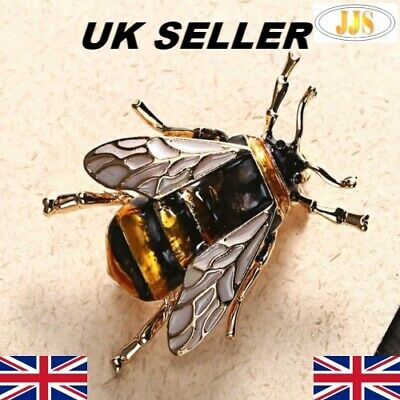 Bumblebee Broach And Lapel Pin Bumble Bee Brooch Vivid Features Gold And Black