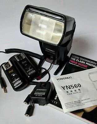 Yongnuo YN560 flash Excellent condition with 2 additional remote trigger systems