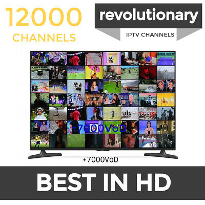 World IPTV SUBSCRIPTION 12000 *HD Arabic Euro USA Canada India Latin africa lot*