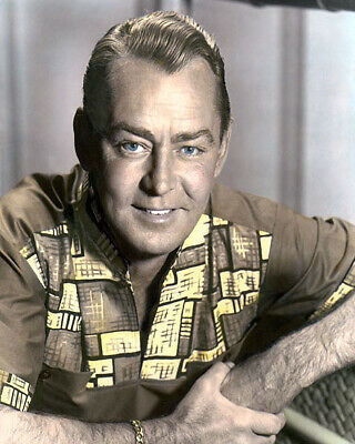 "ALAN LADD HOLLYWOOD ACTOR & MOVIE STAR 8x10"" HAND COLOR TINTED PHOTOGRAPH"
