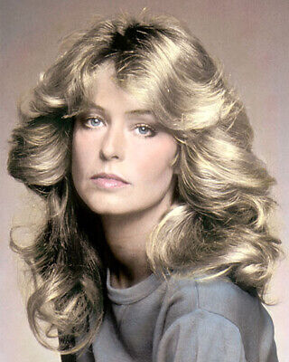"FARRAH FAWCETT (2) HOLLYWOOD ACTRESS & ARTIST 8x10"" HAND COLOR TINTED PHOTOGRAPH"