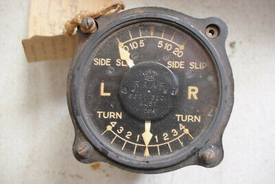 Turn & Bank (Side Slip) indicator Aircraft Part from DH Vampire A79-89 Ex RAAF