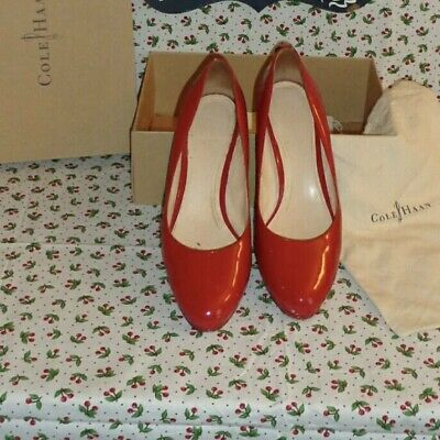 66d17a219ae COLE HAAN NIKEAIR Chelsea Tango Red Patent Women's Classic Pumps Heels Sz  11.5