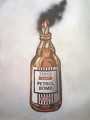 Banksy Petrol Bomb Limited Edition of 2000