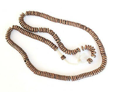 Antique Ethiopian strand of Brass Heishi Anklet 1930s