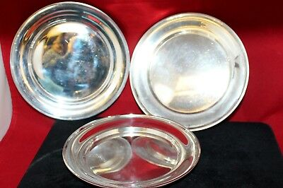 """3 Gorham Whiting Sterling Silver Saucers Bread & Butter Plates 6"""""""