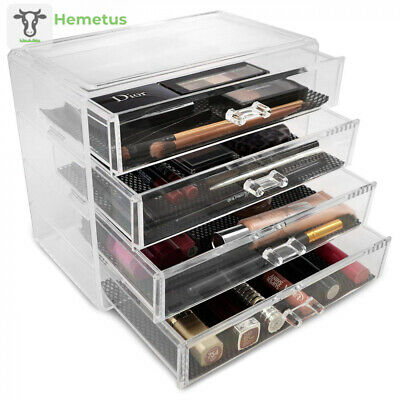 Sorbus Acrylic Cosmetics Makeup and Jewelry Storage Case Display– 4 Large...