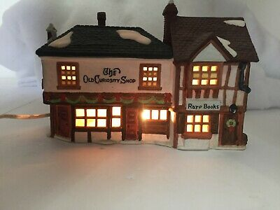 """Dept 56 Dickens Village Collection """"The Old Curiosity Shop"""" Christmas Vintage"""