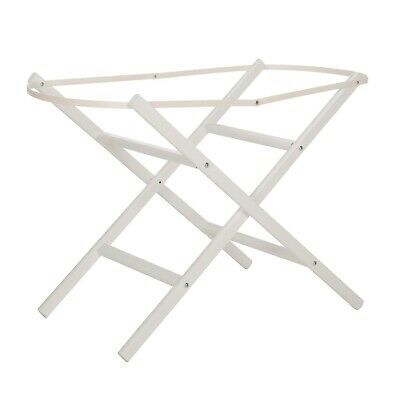 White folding moses basket stand NEW BOXED