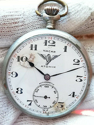 NACAR - ATOMIK  RARE OLD  Mechanical  SWISS MADE Pocket Watch
