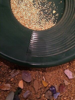 Alaska Gold Sapphire Ruby's Gemstone Paydirt Concentrate w/placer Gold 1/2 lb