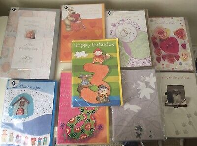 Job Lot 54 Greeting Cards With Envelopes Various Designs