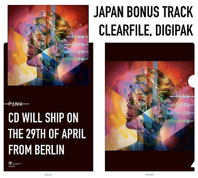 JAPAN CLEARFILE+BONUS TRACK! P!NK PINK HURTS 2B HUMAN CD sent 29APRIL fromBERLIN